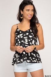 She + Sky Abstract Cami Top - Front cropped