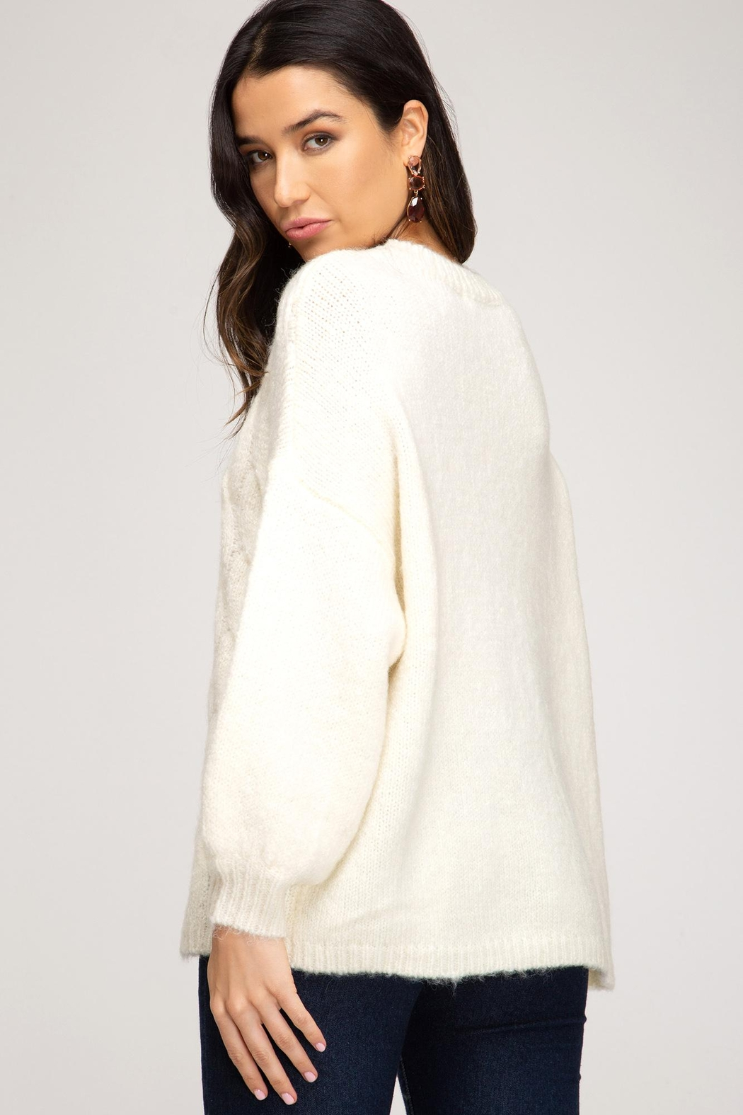 She + Sky Add Marshmallows Sweater - Front Full Image