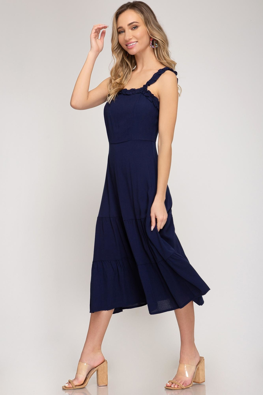 She + Sky Ahoy There Dress - Front Full Image