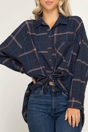 She + Sky Ally Plaid Top - Front cropped