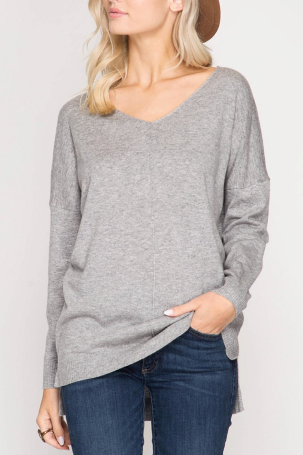 She + Sky Amelia Sweater - Front Cropped Image