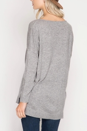 She + Sky Amelia Sweater - Front full body
