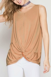 She + Sky Apricot Twisted Top - Product Mini Image