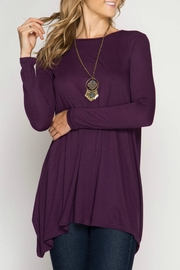 She + Sky Asymmetrical Tunic Top - Product Mini Image