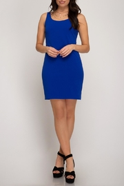 She + Sky Back Cutout Dress - Product Mini Image