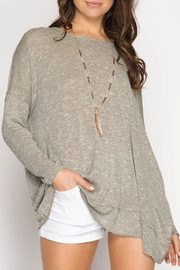 She + Sky Backless Sweater Top - Product Mini Image