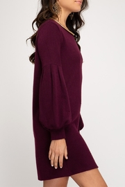 She + Sky Balloon Sleeve Dress - Side cropped