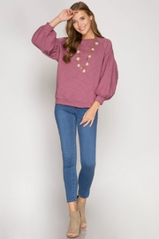She + Sky Balloon Sleeve Top - Other