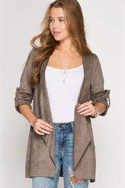 She + Sky Batwing Suede Jacket - Product Mini Image