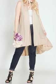 She + Sky Beige Lace Vest - Product Mini Image