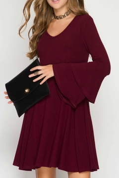 Shoptiques Product: Bell-Sleeve A-Line Dress