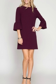 She + Sky Bell Sleeve Dress - Product Mini Image