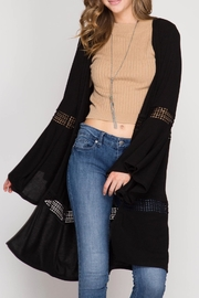She + Sky Bell Sleeve Open Cardigan - Product Mini Image