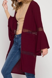 She + Sky Bell Sleeve Open Cardigan - Other