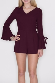 She + Sky Bell Sleeve Romper - Product Mini Image