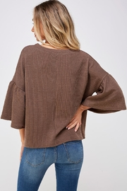 She + Sky Bell Sleeve Sweater - Back cropped