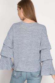 She + Sky Bell Sleeve Top - Front full body