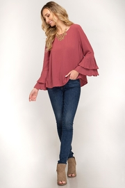 She + Sky Bell Sleeve Top - Other