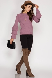 She + Sky Belle Sleeve Sweater - Product Mini Image