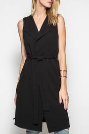 She + Sky Belted Sleeveless Duster - Product Mini Image