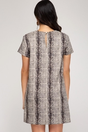 She + Sky Birch Dress Stone - Front full body