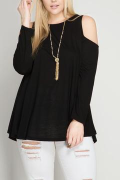 Shoptiques Product: Black Cold Shoulder