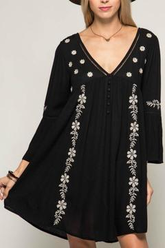 Shoptiques Product: Black Embroidery Dress