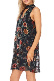 She + Sky Black Floral Velvet Dress - Side cropped