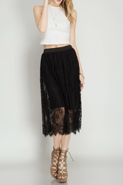 She + Sky Black Lace Skirt - Product Mini Image
