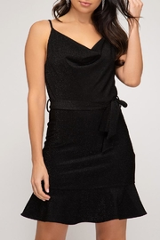 She + Sky Black Lurex Dress - Product Mini Image