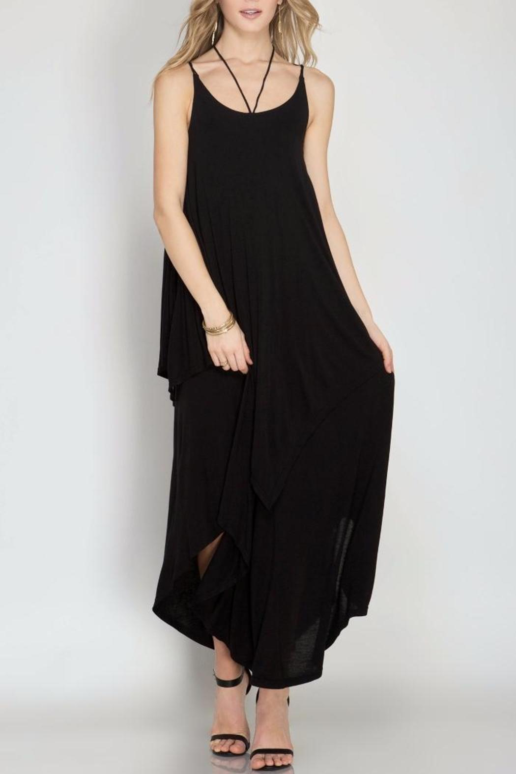 She + Sky Double Maxi Dress - Front Cropped Image