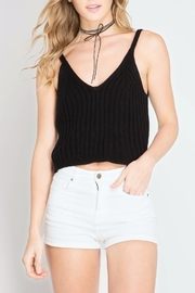She + Sky Black Ribbed Crop Top - Product Mini Image