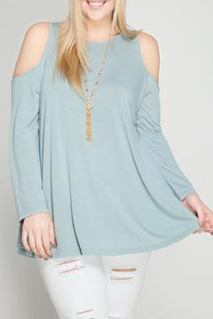Shoptiques Product: Blue Cold Shoulder