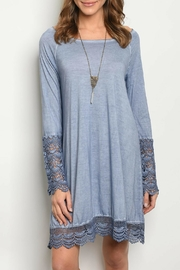 She + Sky Blue Crochet Dress - Product Mini Image