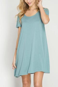 Shoptiques Product: Blue Laceup Dress