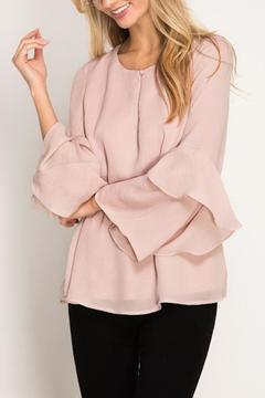 Shoptiques Product: Blush Ruffle Sleeve Top