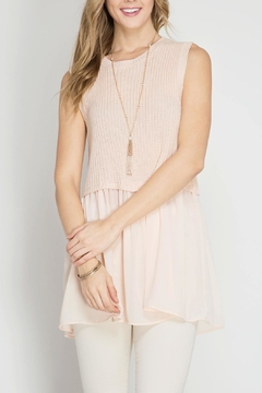 Shoptiques Product: Blush Sweater Tank Top