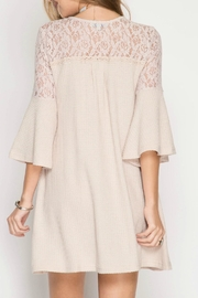 She + Sky Boho Shift Dress - Front full body