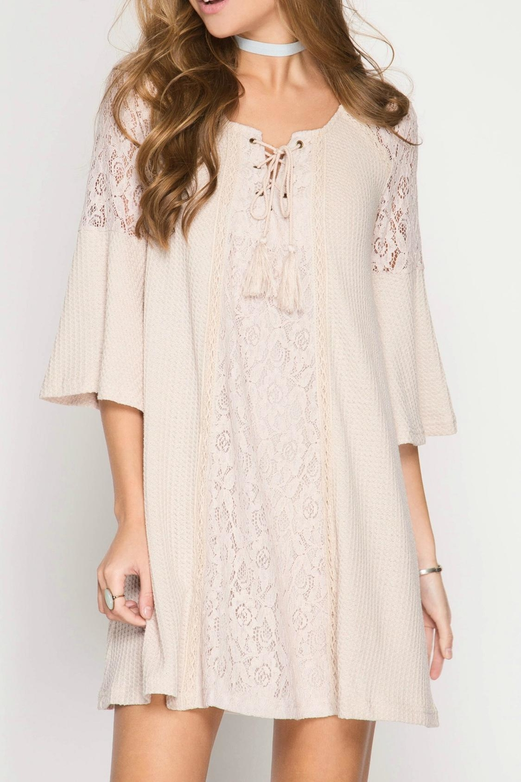 She + Sky Boho Shift Dress - Main Image