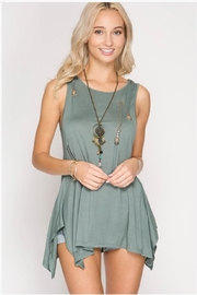 She + Sky Braided Cutout Tank - Front cropped