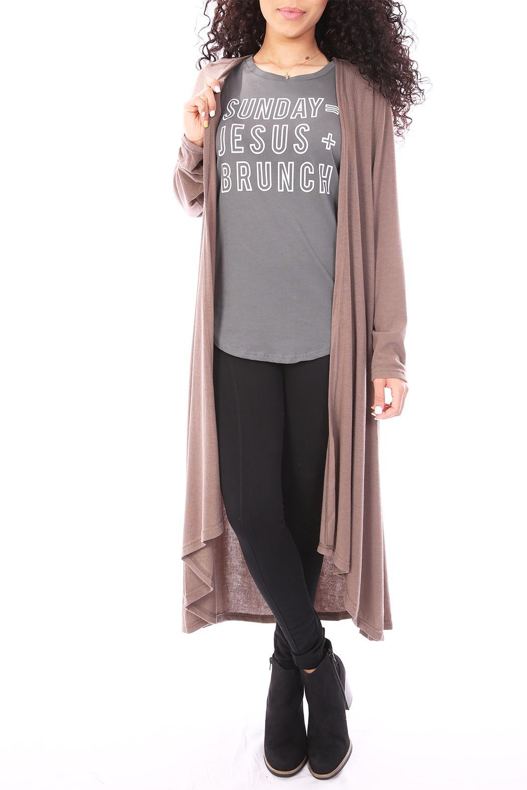 She   Sky Brown Duster Cardigan from Dallas by Tangled Society ...