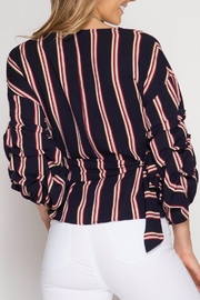 She + Sky Bubbled Up Wrap Blouse - Side cropped