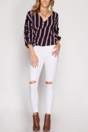She + Sky Bubbled Up Wrap Blouse - Other