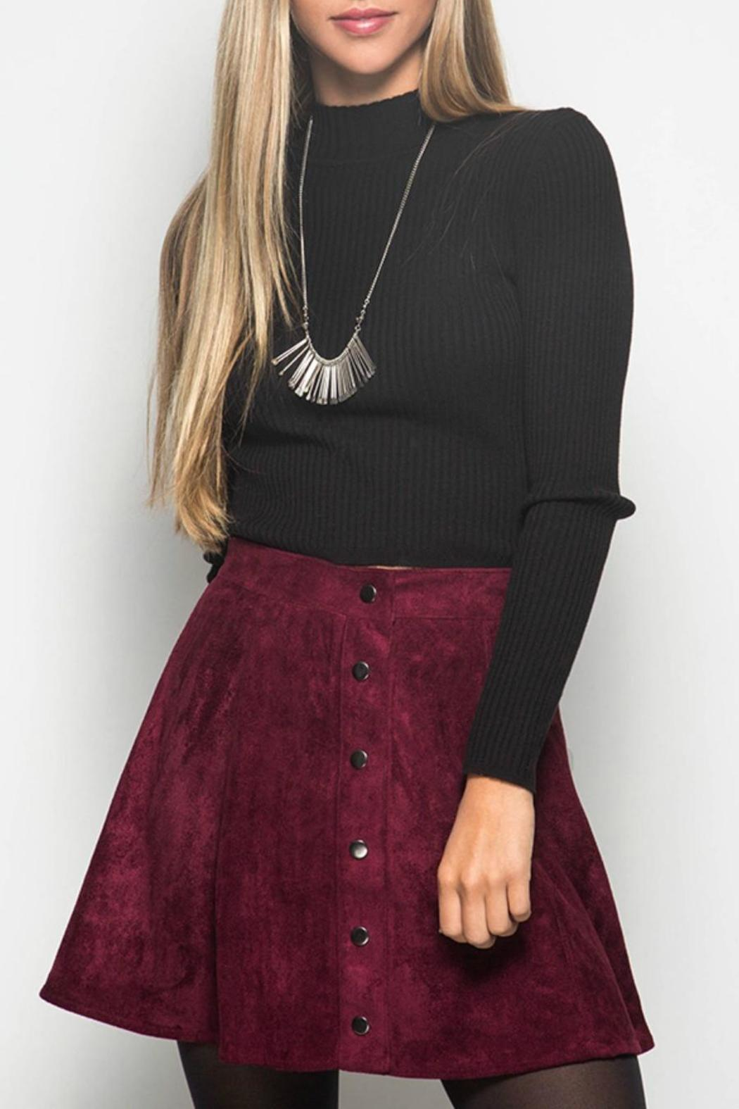 She   Sky Burgundy Suede Skirt from West Virginia by Virginia Lee ...
