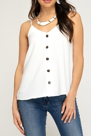 She + Sky Button-Down Cami Top - Product Mini Image