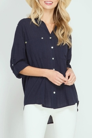 She + Sky Button Down Shirt - Product Mini Image