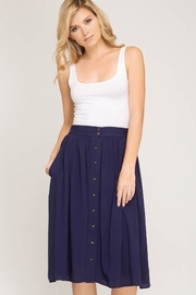She + Sky Button Down Skirt - Front cropped