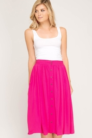 She + Sky Button Down Skirt - Side cropped