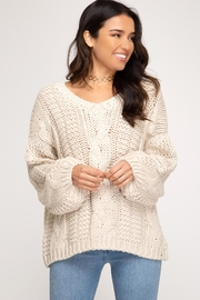 She + Sky Cable Commander Sweater - Product Mini Image