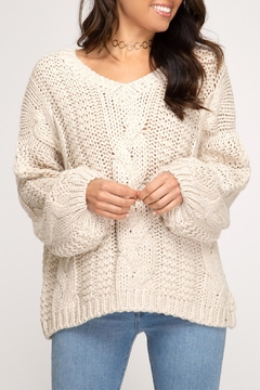 She + Sky Cable Knit Sweater - Product List Image